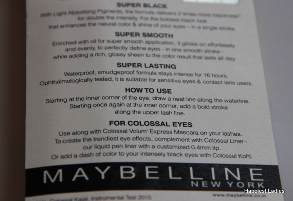 How to use Maybelline Super Black Kajal