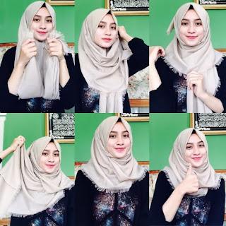 Tutorial Hijab Katun Rawis Segi Empat
