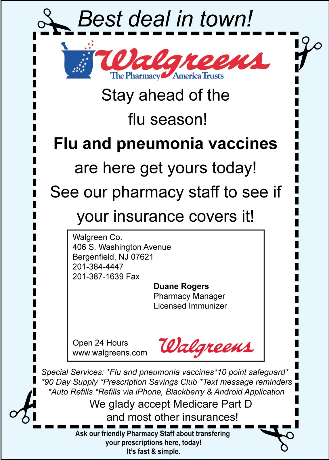 Flu Vaccine Flyers Free: Blondie's Blog: Displays & Posters For Work