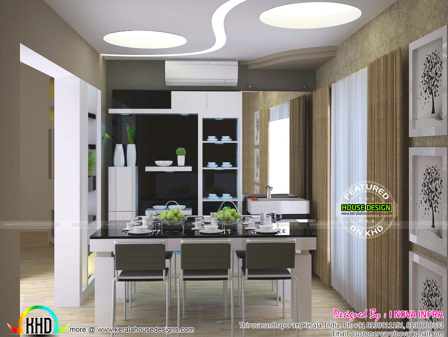 kerala kitchen interiors  kerala home design and floor