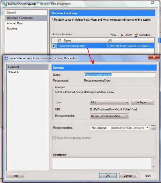 configure receive port
