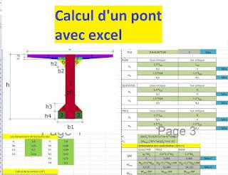Calcul d'un pont sur fichier excel.