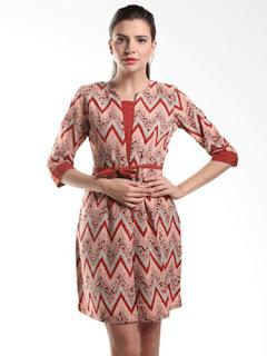 Baju Batik Dress Modern 2018