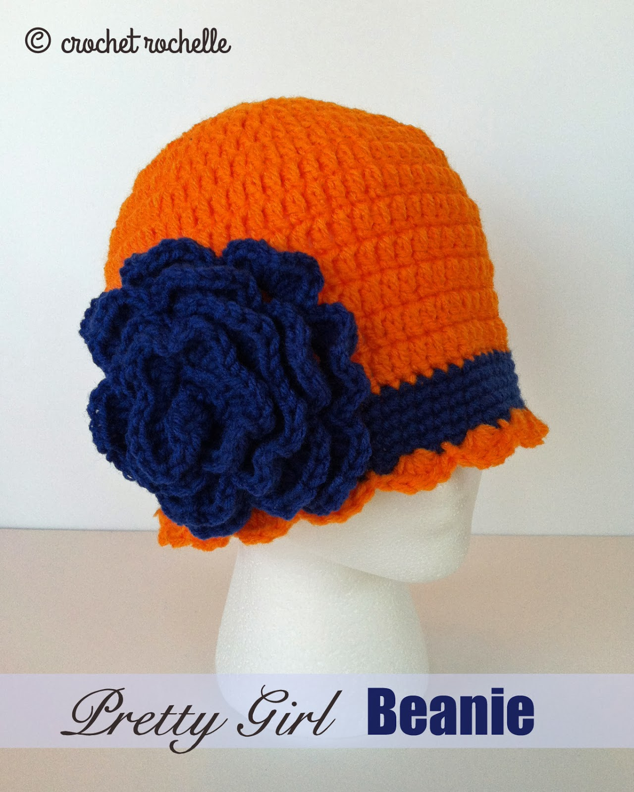 1da8f97de Crochet Rochelle: Pretty Girl Beanie