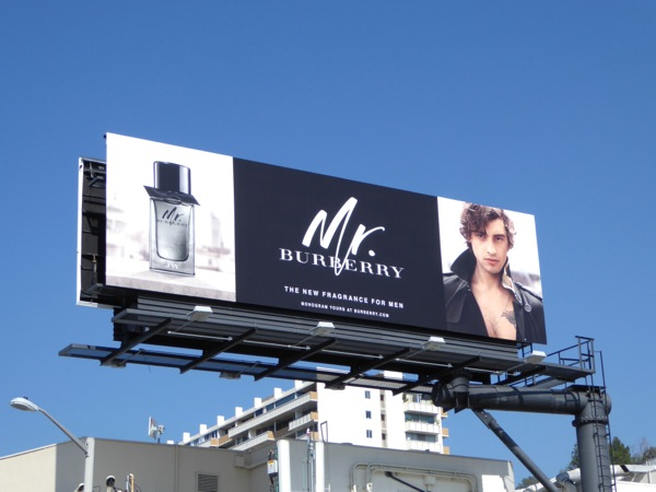 Mr Burberry fragrance billboard