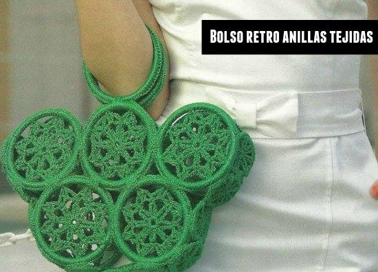 Bolso retro de anillas tejidas