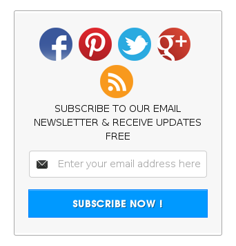 All in one Email Subscription Box with Social Icons for blogger blogs