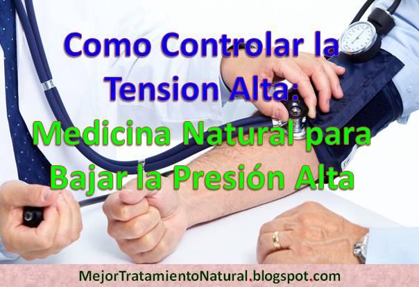 Para bajar la presion arterial en forma natural