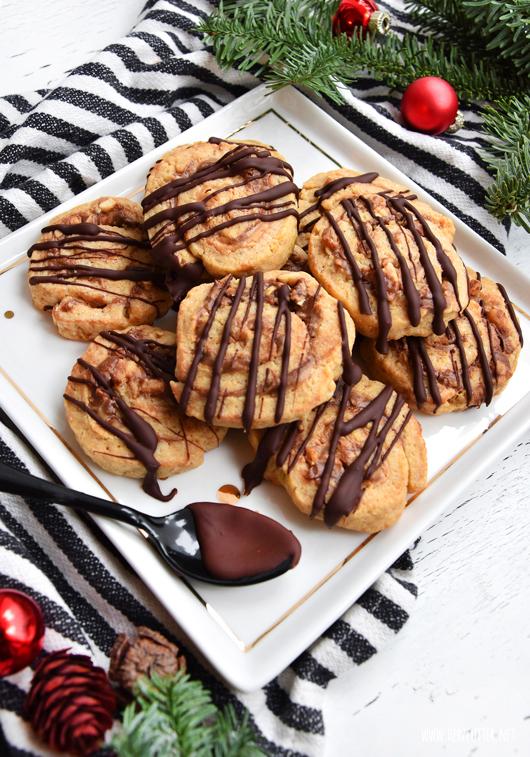 Nutella-Erdnuss-Swirl-Cookies