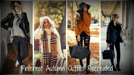 4 Pinterest Autumn outfits - recreated