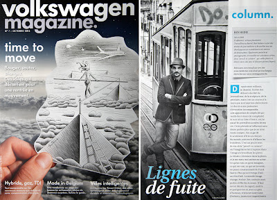 Ben Heine interview and printed cover in Volkswagen Magazine (October 2013)
