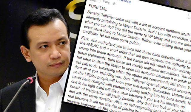 Lawyer questions Trillanes, says he is a 'pure evil, jilted lover' in an open letter