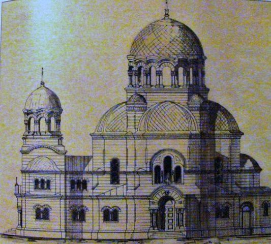 Нереализованный проект православной церкви на Красной Двине.