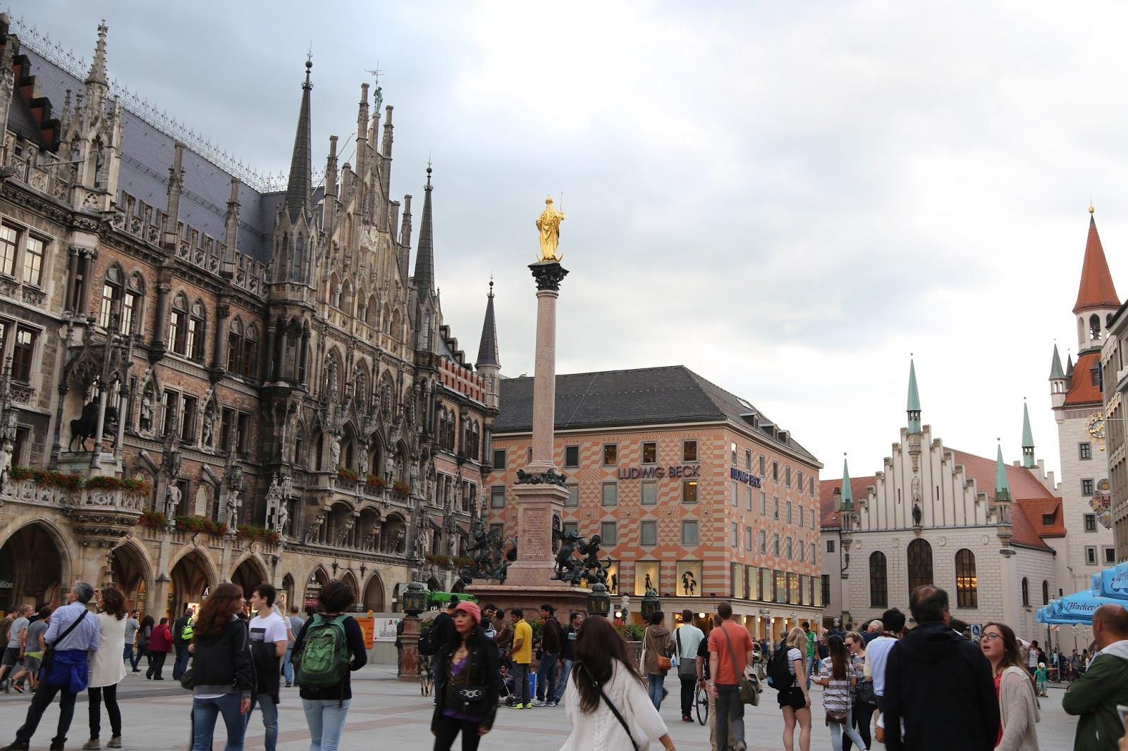 喜歡大自然: 德國--慕尼黑瑪利亞廣場