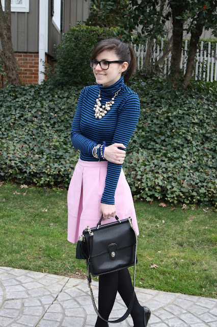 2017, turtleneck, turtleneck thursday, winter, stripes, J.Crew, OOTD,