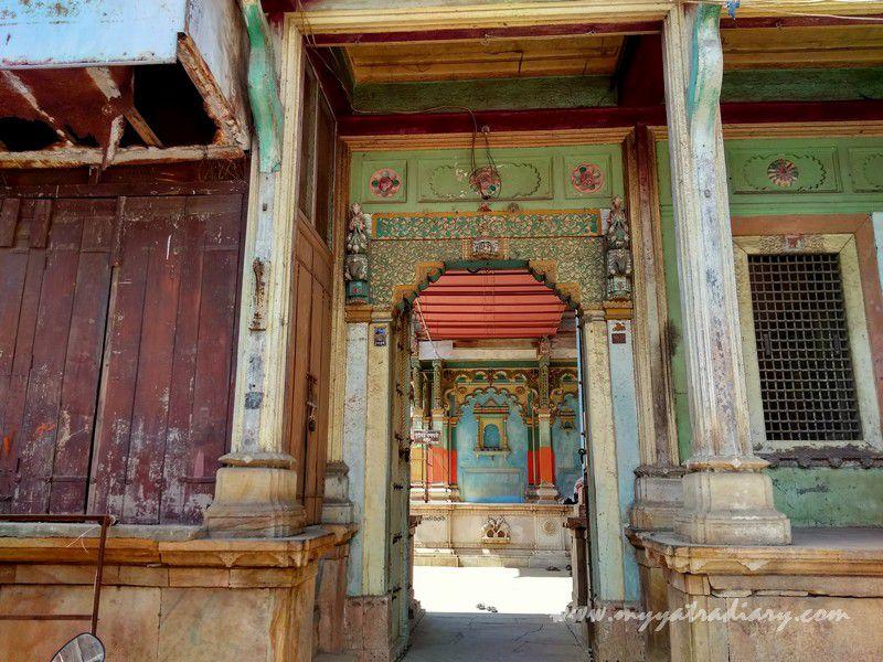 Teakwood heritage Dhundiraj Ganesha Temple, Vadodara, Gujarat