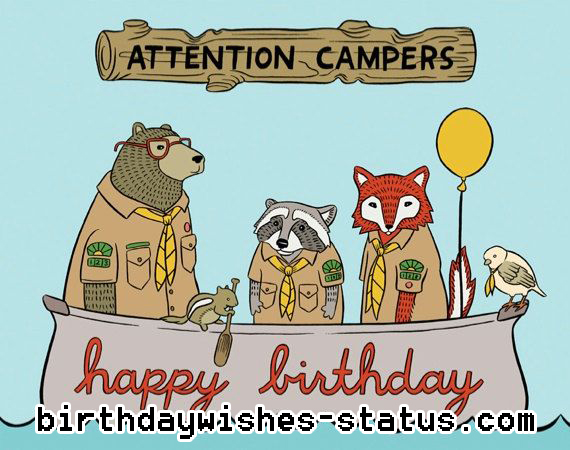 birthday wishes for campers