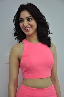 Actress Tamanna Stills in Pink Dress at Oopiri Movie Interview  0017