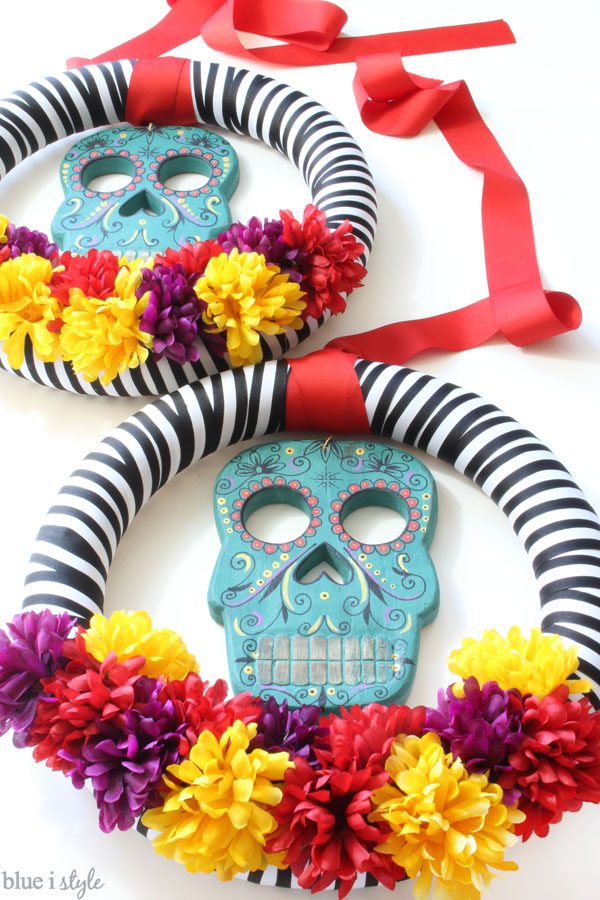 DIY Dia de los Muertos wreaths Day of the Dead