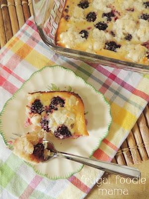 Frugal Foodie Mama: Blackberry Coconut Custard Cobbler