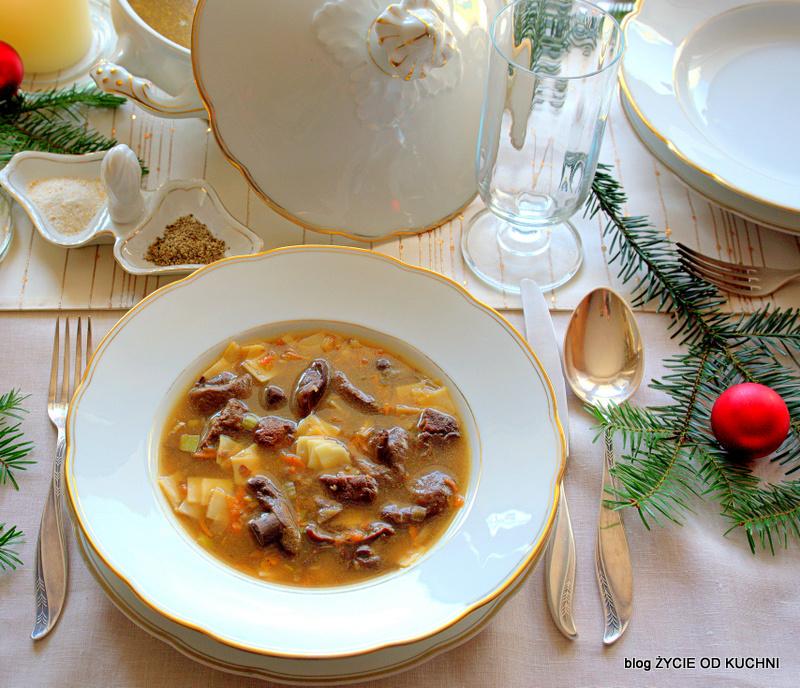 zupa grzybowa, wigilia, boze narodzenie, zycie od kuchni
