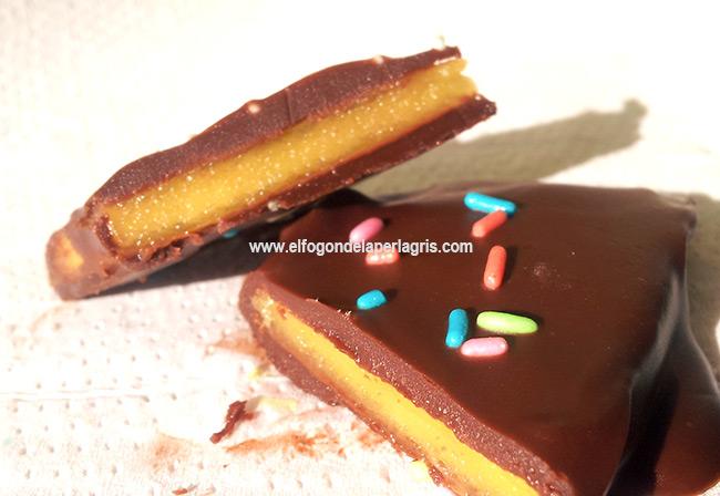 Galletas de mango natural y chocolate