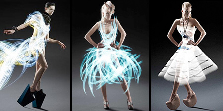 Something amazing cool dresses made up of light - Creatie dressing ...