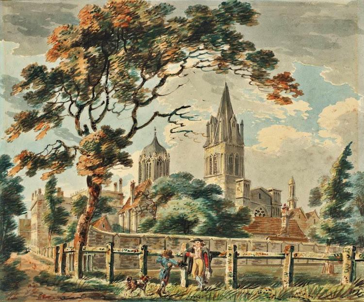 Joseph Mallord William Turner (1775-1851) - Oxford Church (1790)