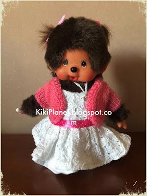 boléro tricot pull kiki monchhichi knitting vêtement habit poupée handmade fait main