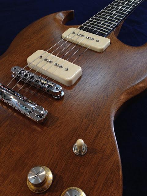 ピックガードレス SG P-90 マホガニー Gibson シンプル ナチュラル