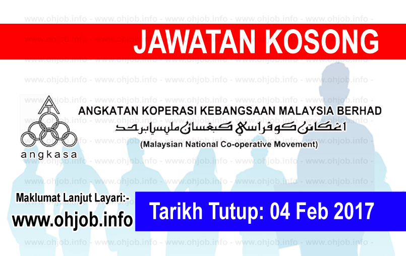 Jawatan Kerja Kosong Angkatan Koperasi Kebangsaan Malaysia Berhad (ANGKASA) logo www.ohjob.info februari 2017