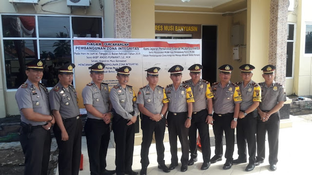 Polres Muba Komit Dalam Penegakan Hukum Yang Bersih dan Bebas Korupsi