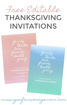 free editable thanksgiving invitations