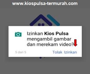 Izinkan Kios Pulsa mengambil gambar dan merekam video