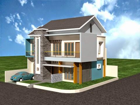 desain rumah minimalis 2 lantai luas tanah 100m2 - foto