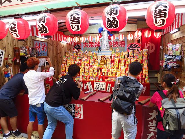 Retro Osaka Shinsekai area. Air gun game. Tokyo Consult. TokyoConsult.