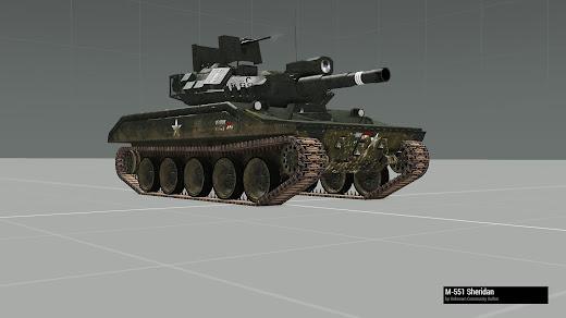 Arma3用Unsungベトナム戦争MODのM552 Sheridan 空挺戦車