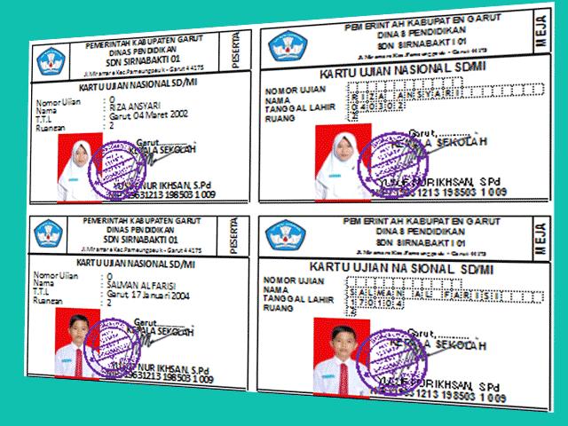 Administrasi Sekolah Cetak Kartu ID Pengawas, Peserta Ujian Plus Cetak SKHU Sementara