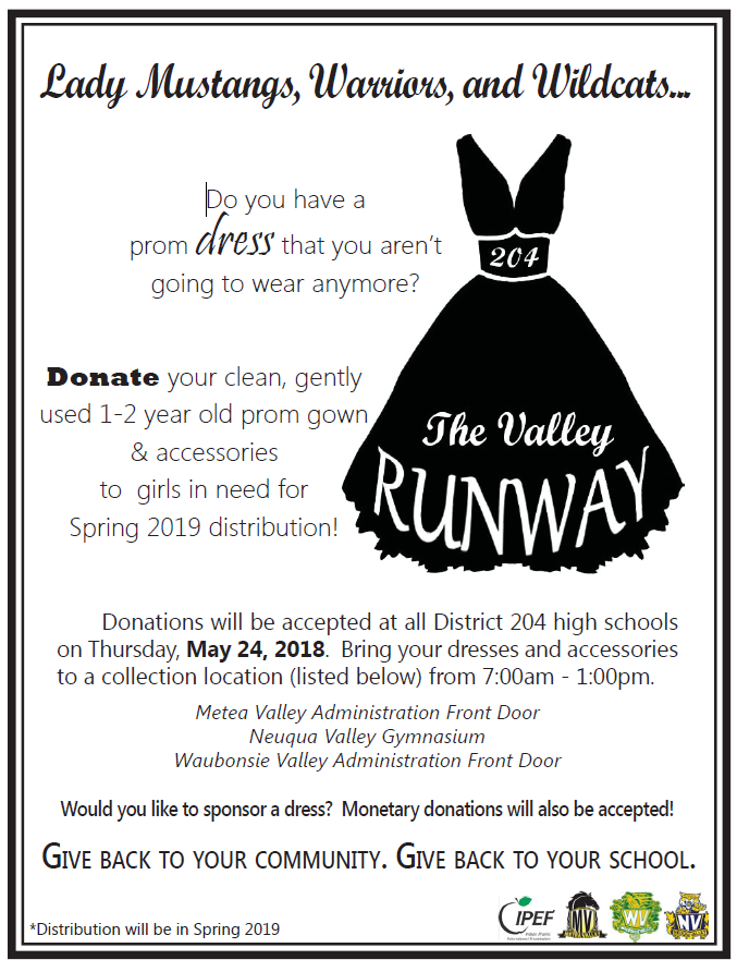 Neuqua Valley News The Valley Runway Donate Your Old Prom Gown