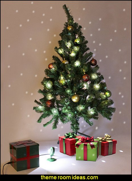 Tree Flurries, Indoor Moving Snowflakes In A Box! For Your Christmas Trees, Home, Office, Dorm or Apartment