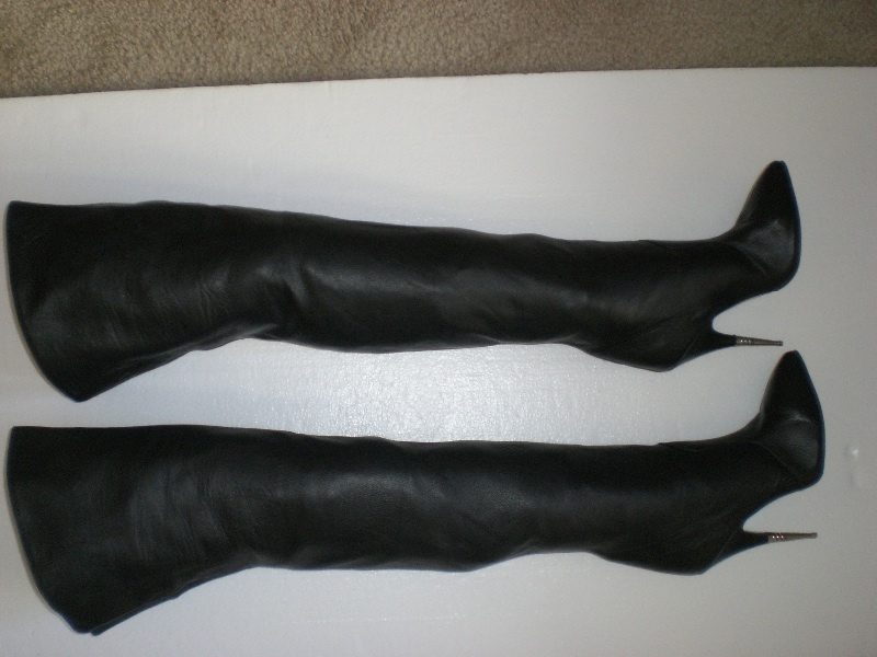 77a3fa03f EBay Leather: A Deal On Vintage Black Leather Thigh Boots