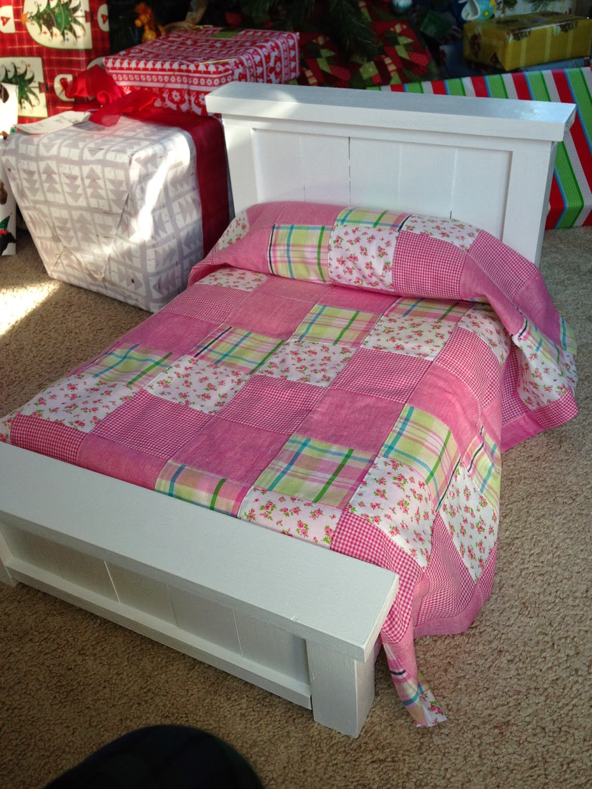 Celtic Heart Knitting And Quilting American Girl Doll Bed