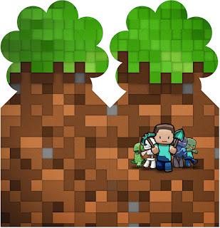 Marcapáginas Gratis para Fiesta de Minecraft.