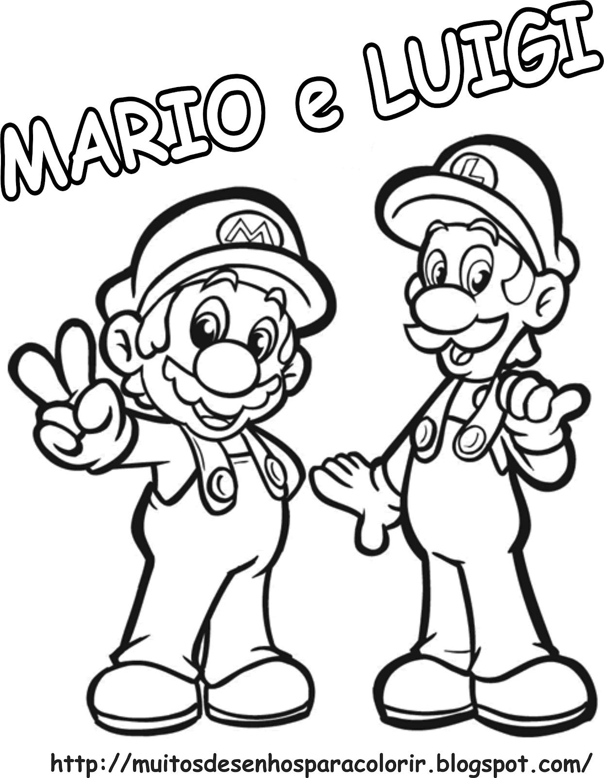 Desenhos para Colorir: Mário Bros
