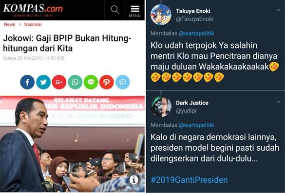Jawaban Jokowi Soal Gaji BPIP Bikin Warganet Meradang