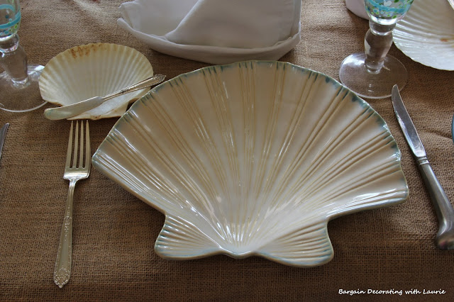 Shell-shaped Dinner Plates-Bargain Decorating with Laurie