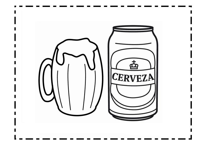 Botella De Cerveza Dibujo: Dibujo De Botella De Cerveza Para Colorear