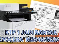 Cara mudah fotocopy kartu/ktp menggunakan kyocera M2040/M2540