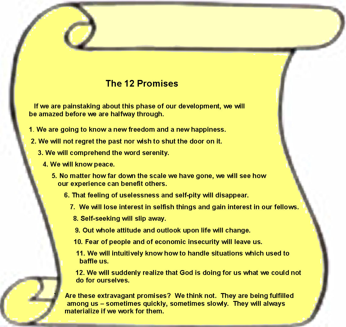 Uncategorized Aa 12 Step Worksheets alcoholics anonymous pune the 12 promises thursday 5 may 2016
