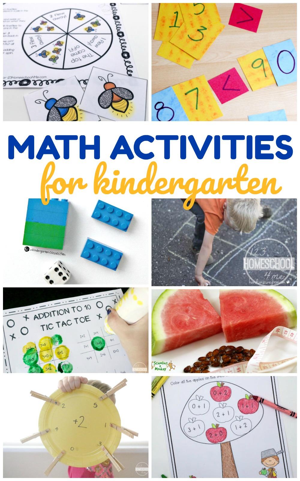 NEW! 20 Kindergarten Math Activities